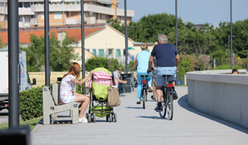Cycle-pedestrian track of Caorle Spiaggia Levante