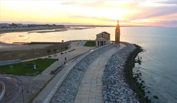Sunrise on the Levante beach of Caorle